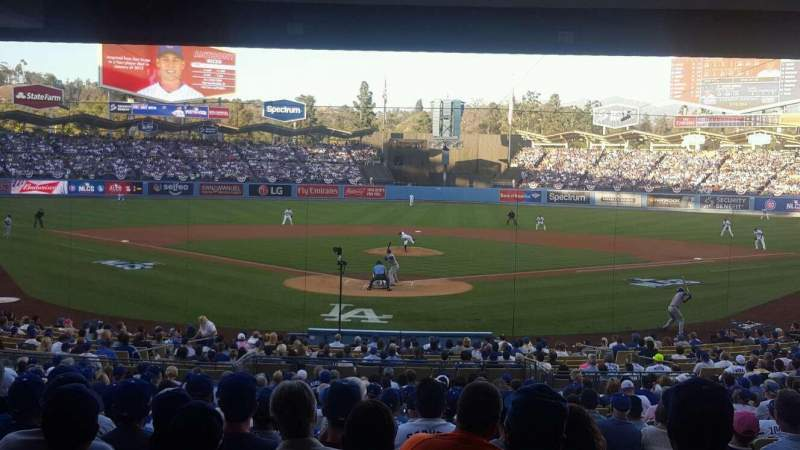 Seating view for Dodger Stadium Section Field Level Row Standing