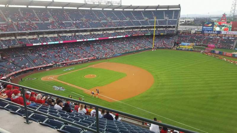 Seating view for Angel Stadium Section V521 Row A Seat 21