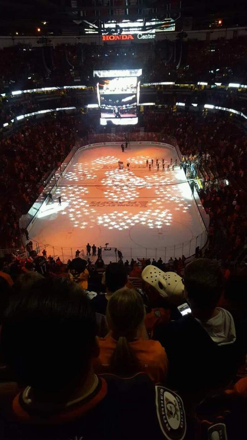 Seating view for Honda Center Section 422 Row P Seat 15