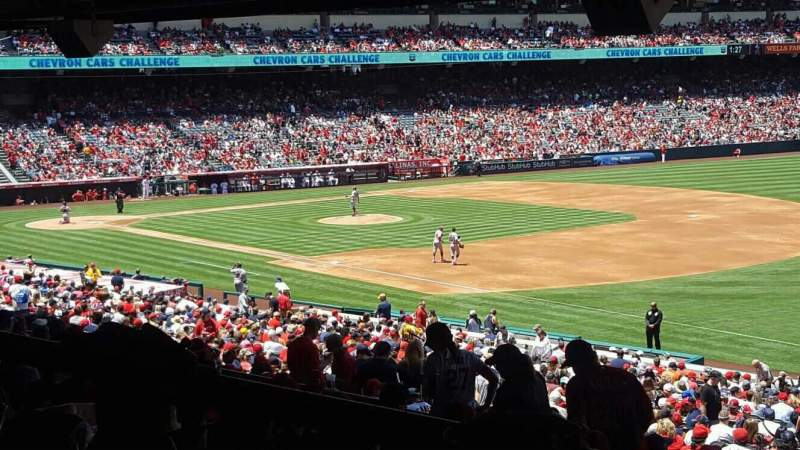 Seating view for Angel Stadium Section T227 Row SA Seat 10
