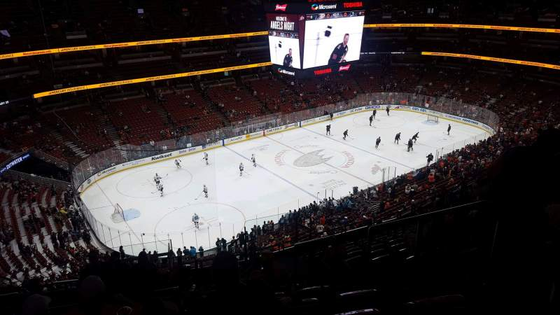 Seating view for Honda Center Section 416 Row n Seat 4