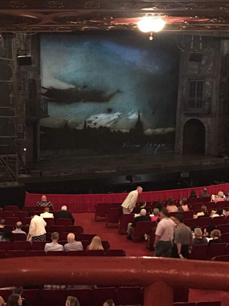 Seating view for Cadillac Palace Theater Section DCIRFL Row LL Seat 5