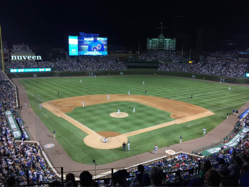 Seating view for Wrigley Field Section 318R Row 6 Seat 14