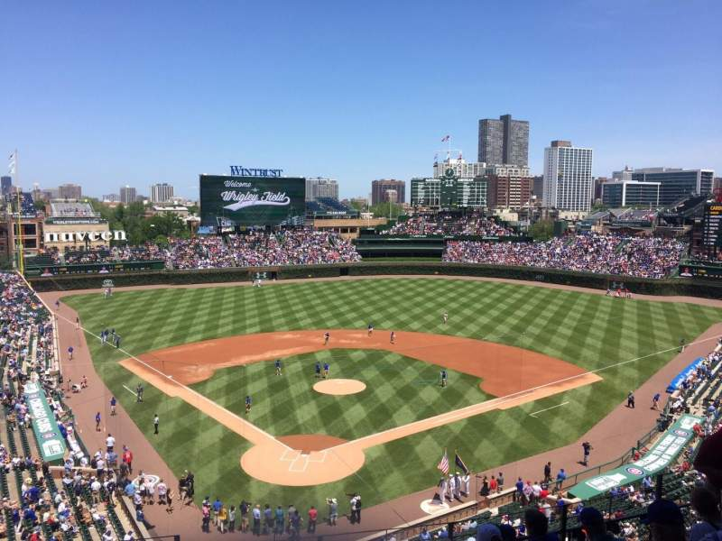 Seating view for Wrigley Field Section 319R Row 8 Seat 1