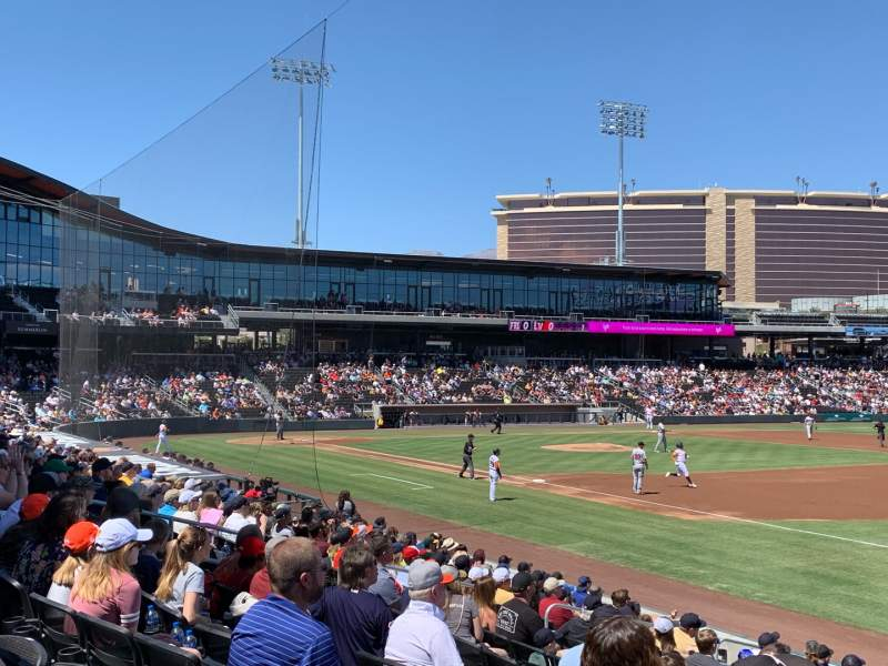 Seating view for Las Vegas Ballpark Section OFP104 Row Q Seat 19,20
