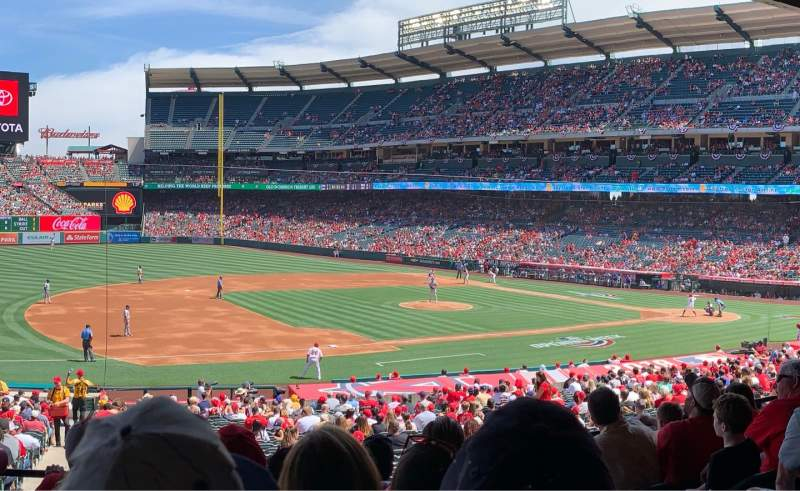 Seating view for Angel Stadium Section T209 Row F Seat 21