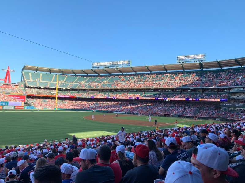 Seating view for Angel Stadium Section F106 Row Z Seat 1