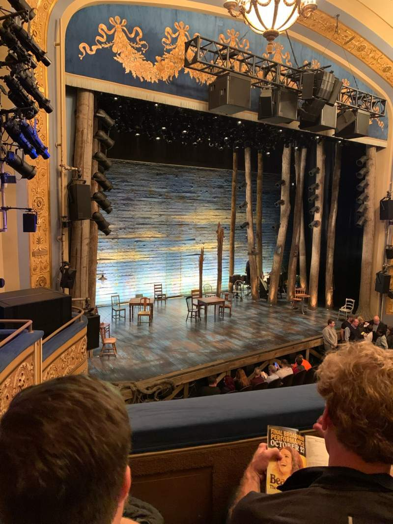 Seating view for Gerald Schoenfeld Theatre Section Mezzanine L Row B Seat 19