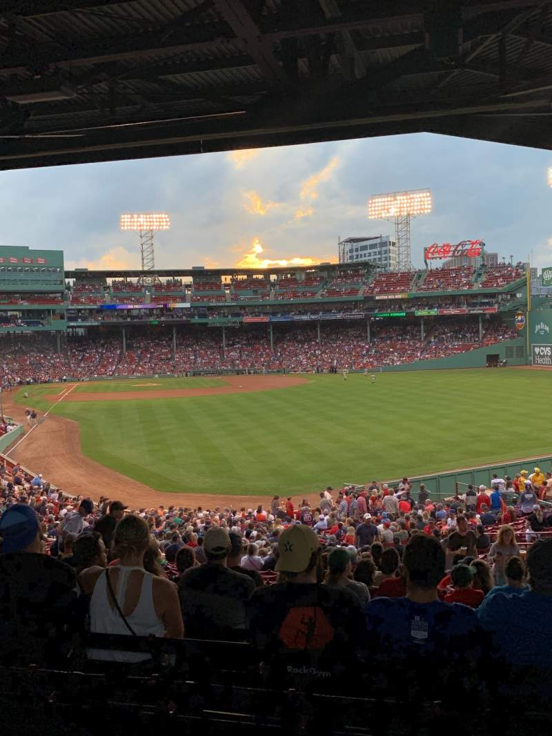 Seating view for Fenway Park Section Grandstand 3 Row 11 Seat 11
