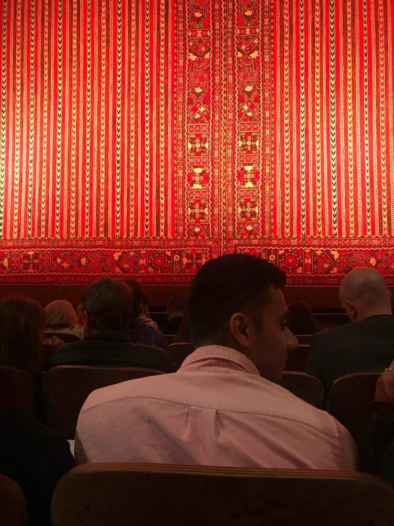 Seating view for New Amsterdam Theatre Section Orchestra C Row E Seat 107