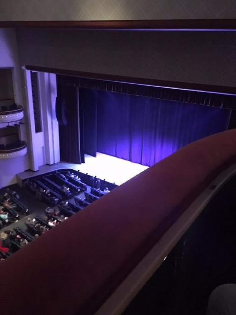 Seating view for Belk Theater Section Balcony Row RBX Seat 3