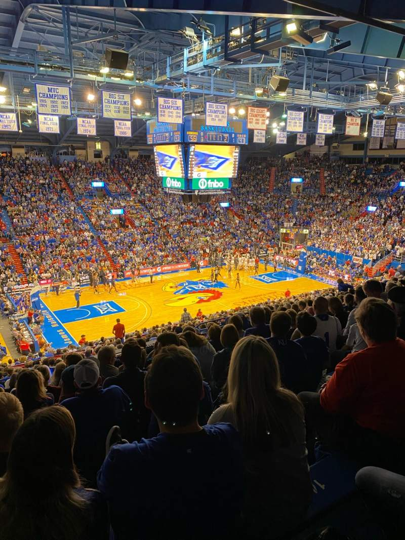 Seating view for Allen Fieldhouse Section 8 Row 26 Seat 17