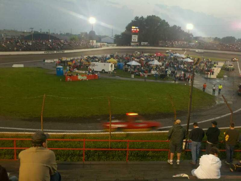 Seating view for Anderson Speedway Section j Row 14 Seat 18