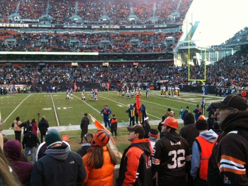 Seating view for FirstEnergy Stadium Section 136 Row 6 Seat 6