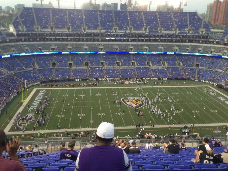 Seating view for M&T Bank Stadium Section 528 Row 25 Seat 20