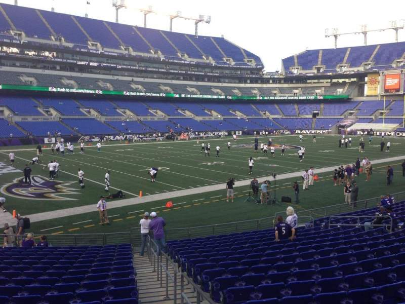 Seating view for M&T Bank Stadium Section 134 Row 18 Seat 1