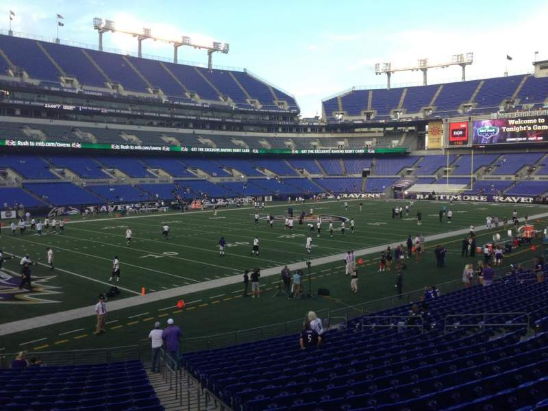 Seating view for M&T Bank Stadium Section 133 Row 30 Seat 2