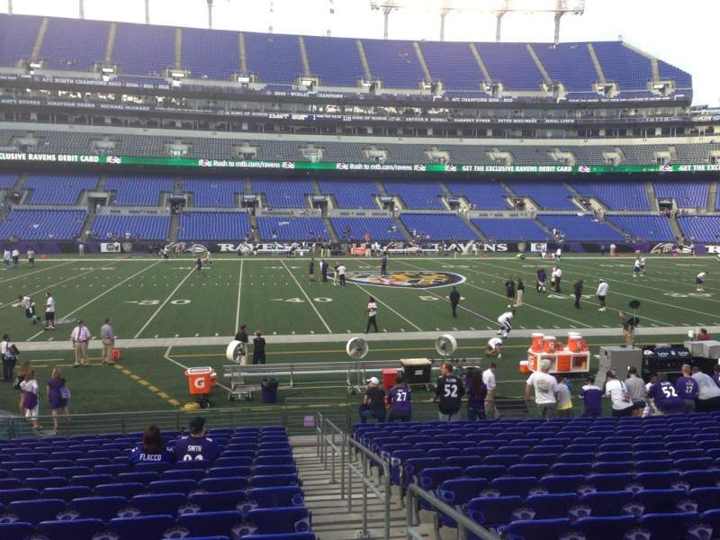 Seating view for M&T Bank Stadium Section 128 Row 12 Seat 1