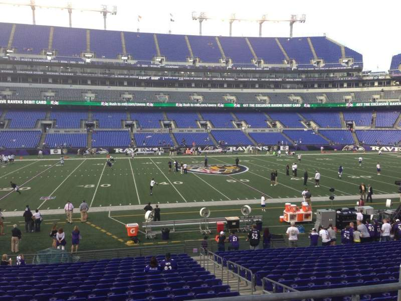Seating view for M&T Bank Stadium Section 128 Row 19 Seat 1
