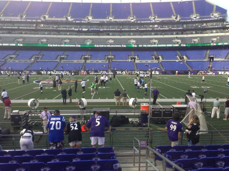 Seating view for M&T Bank Stadium Section 126 Row 9 Seat 1