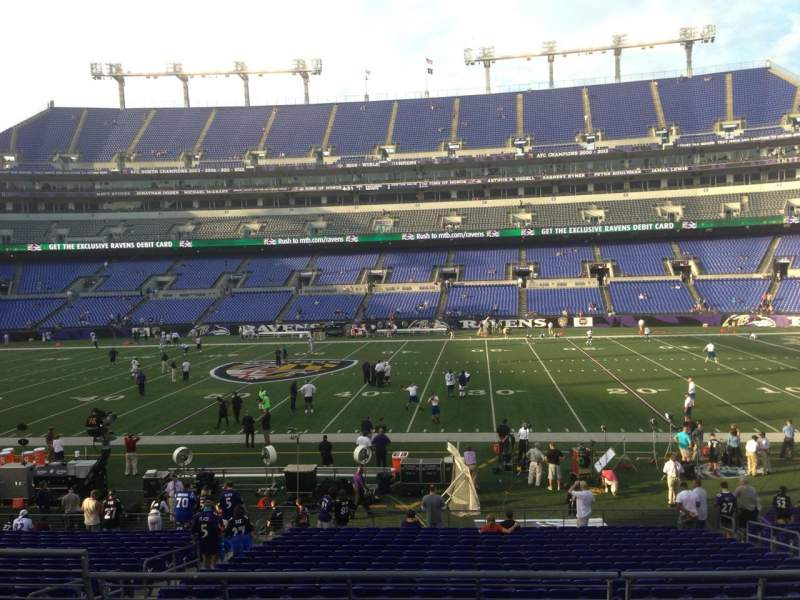Seating view for M&T Bank Stadium Section 126 Row 24 Seat 9