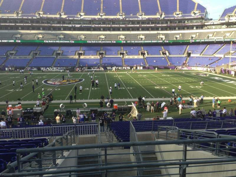 Seating view for M&T Bank Stadium Section 125 Row 30 Seat 1