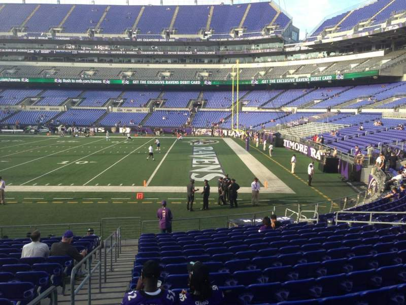 Seating view for M&T Bank Stadium Section 123 Row 16 Seat 19