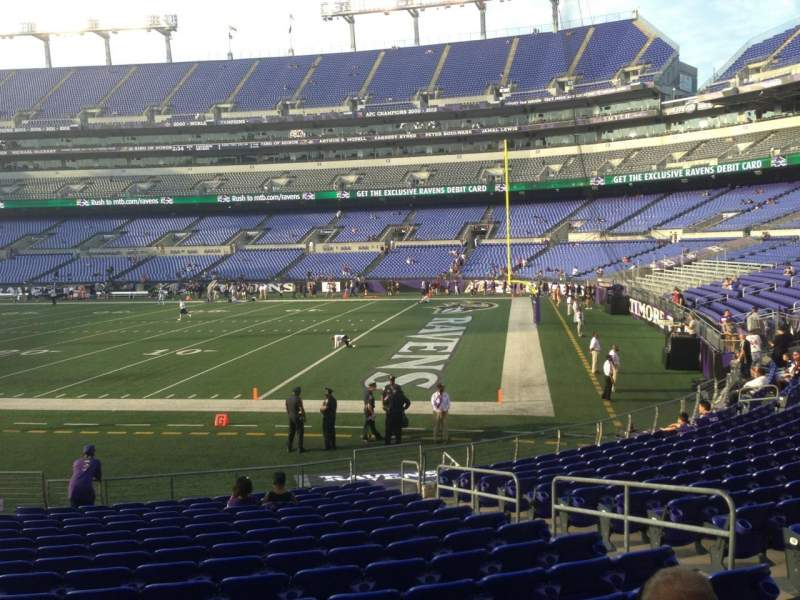 Seating view for M&T Bank Stadium Section 121 Row 17