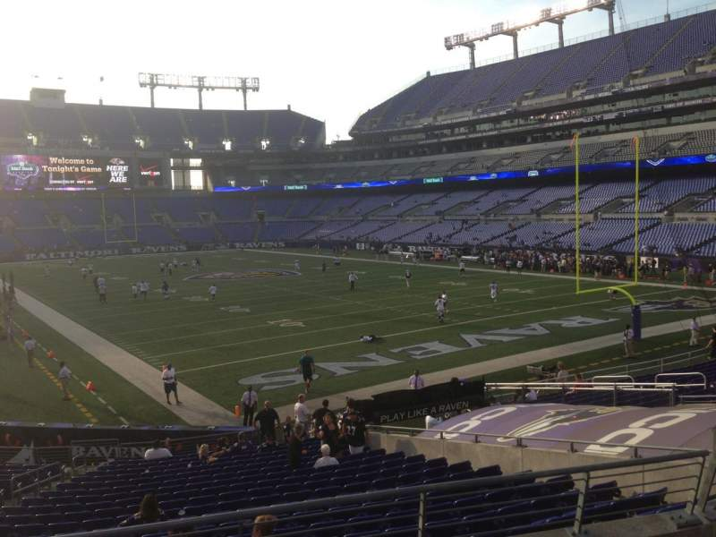 Seating view for M&T Bank Stadium Section 117 Row 23 Seat 9