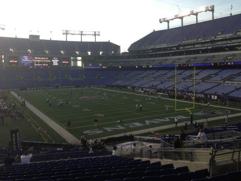 Seating view for M&T Bank Stadium Section 117 Row 35 Seat 14
