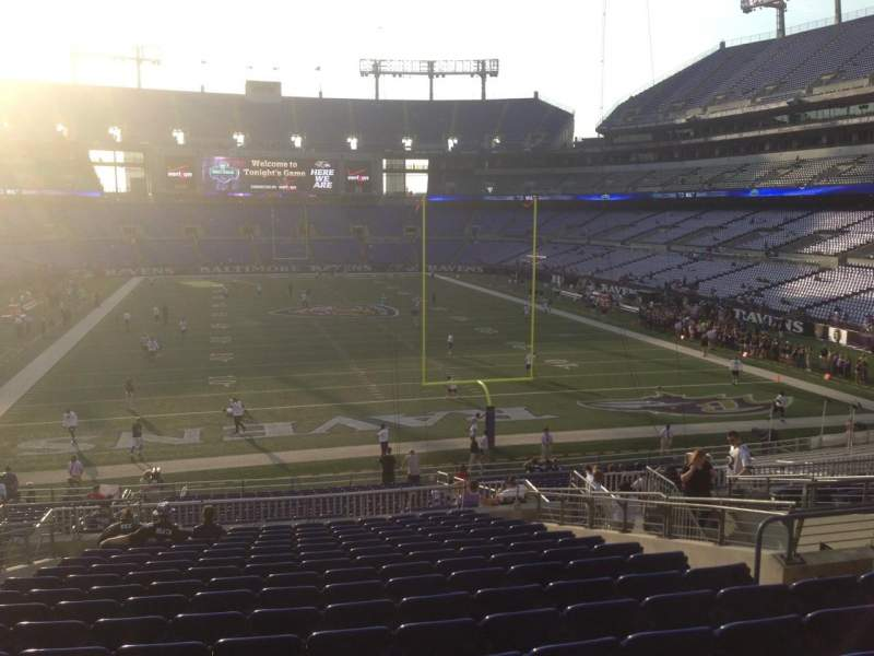 M t bank stadium section 114 home of baltimore ravens for Restaurants m t bank stadium