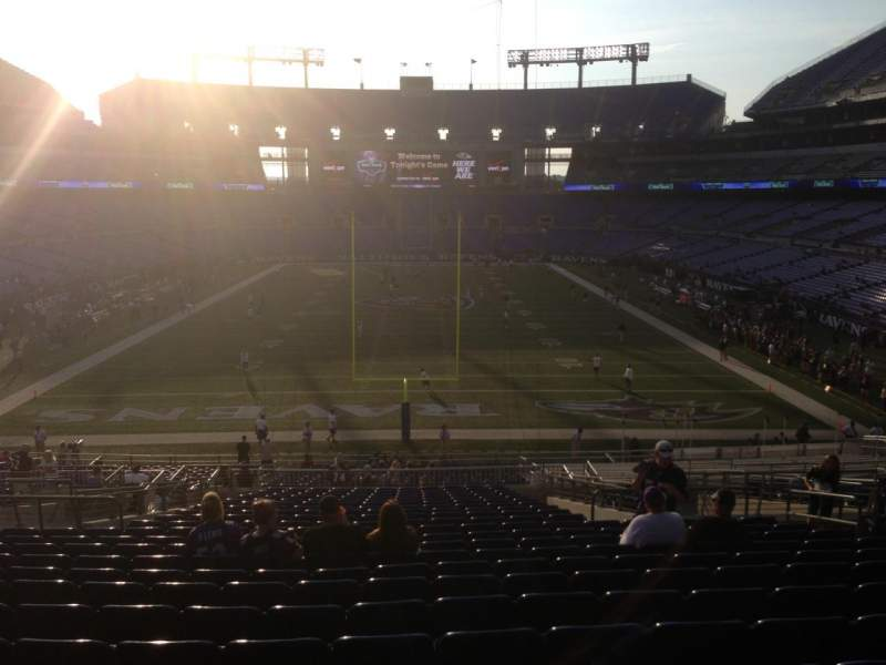 Seating view for M&T Bank Stadium Section 113 Row 41 Seat 10
