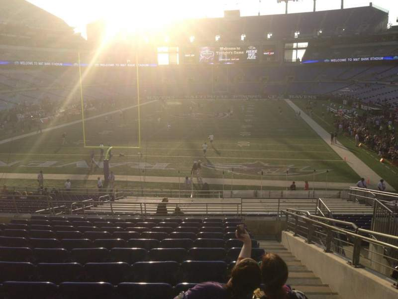 Seating view for M&T Bank Stadium Section 112 Row 30 Seat 6