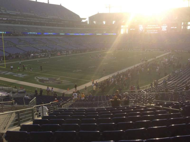 Seating view for M&T Bank Stadium Section 108 Row 32 Seat 6