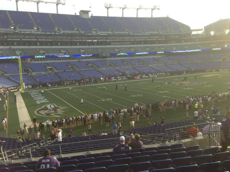 Seating view for M&T Bank Stadium Section 107 Row 12 Seat 23