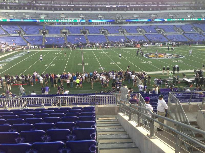 Seating view for M&T Bank Stadium Section 103 Row 25 Seat 42