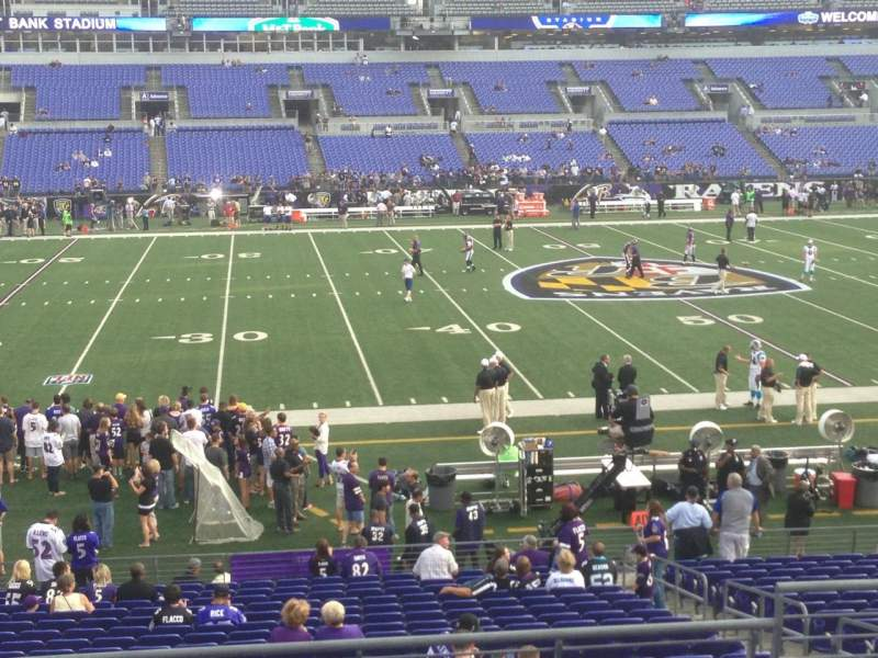 Seating view for M&T Bank Stadium Section 102 Row 29 Seat 5