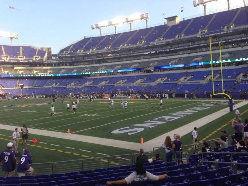 M t bank stadium section 146 row 12 home of baltimore for Restaurants m t bank stadium
