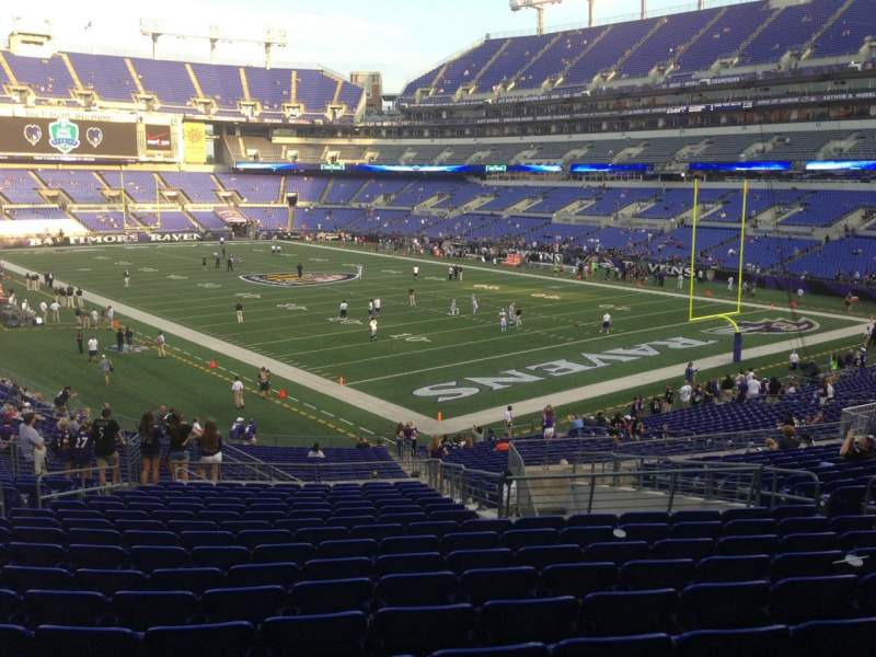 Seating view for M&T Bank Stadium Section 144 Row 37 Seat 10