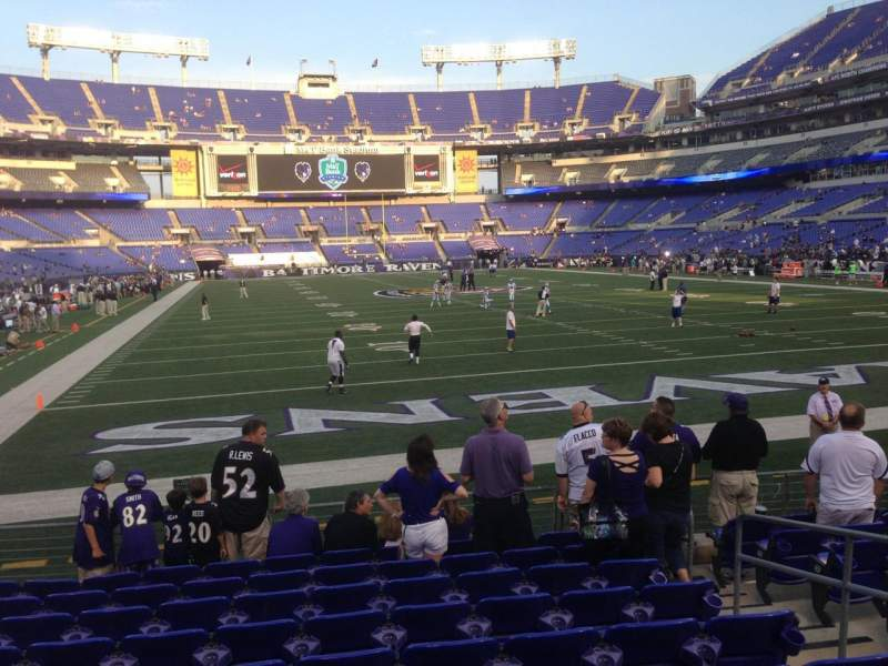 M t bank stadium section 142 home of baltimore ravens for Restaurants m t bank stadium
