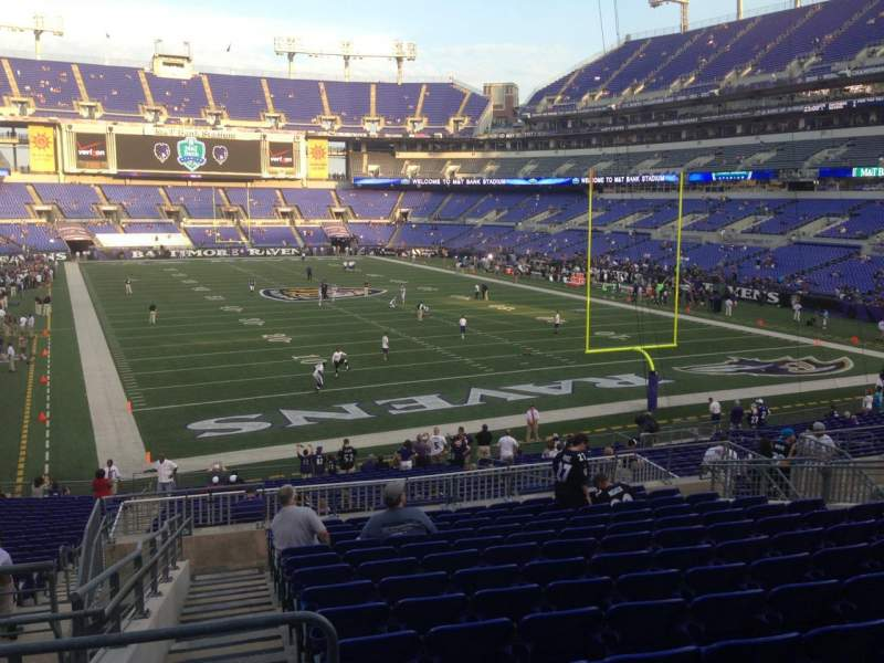 Seating view for M&T Bank Stadium Section 142 Row 32 Seat 18