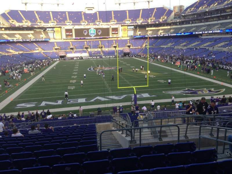 Seating view for M&T Bank Stadium Section 141 Row 35 Seat 5