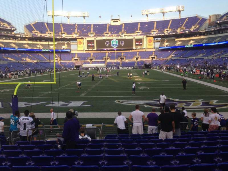 Seating view for M&T Bank Stadium Section 139 Row 12 Seat 12