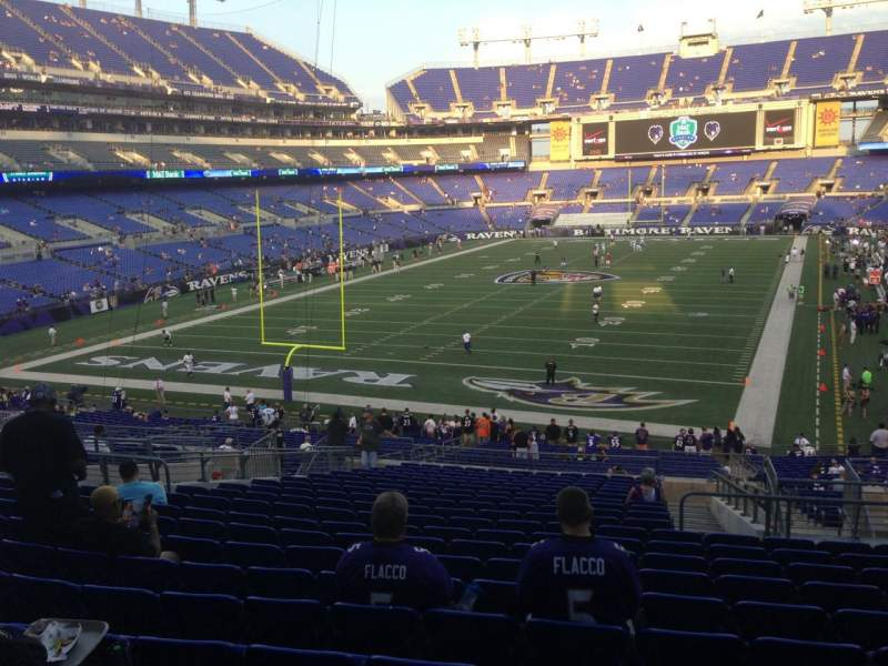 Seating view for M&T Bank Stadium Section 138 Row 39 Seat 5