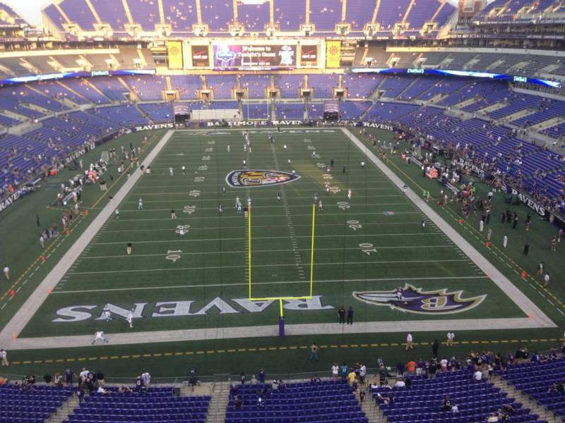 Seating view for M&T Bank Stadium Section 540 Row 1 Seat 12