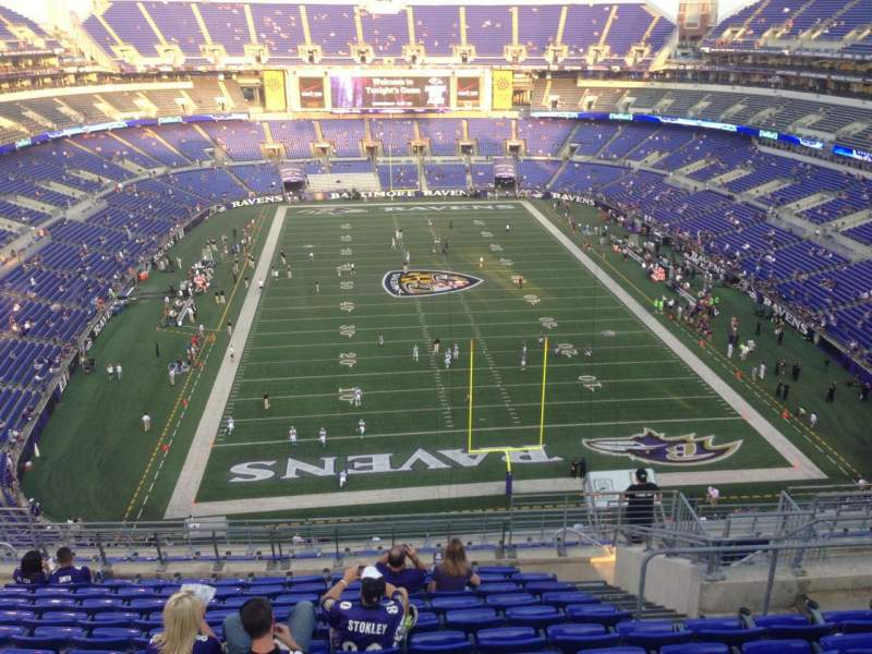 M t bank stadium section 541 home of baltimore ravens for Restaurants m t bank stadium