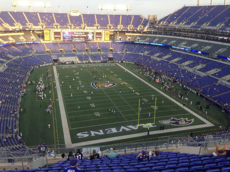 Seating view for M&T Bank Stadium Section 542 Row 19 Seat 17