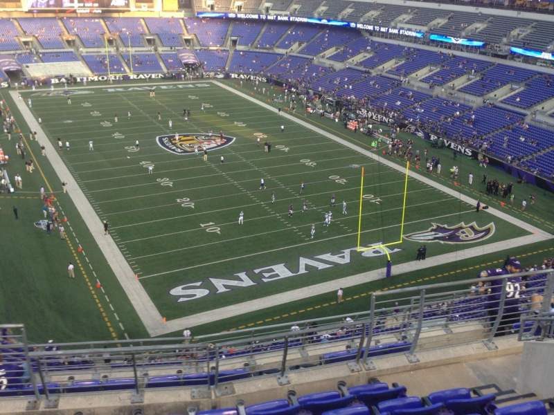 Seating view for M&T Bank Stadium Section 543 Row 10 Seat 11