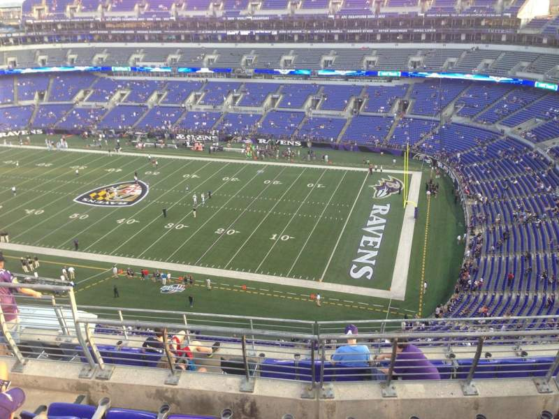 Seating view for M&T Bank Stadium Section 549 Row 8 Seat 6