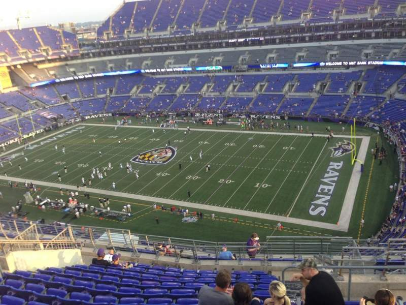 Seating view for M&T Bank Stadium Section 549 Row 15 Seat 4